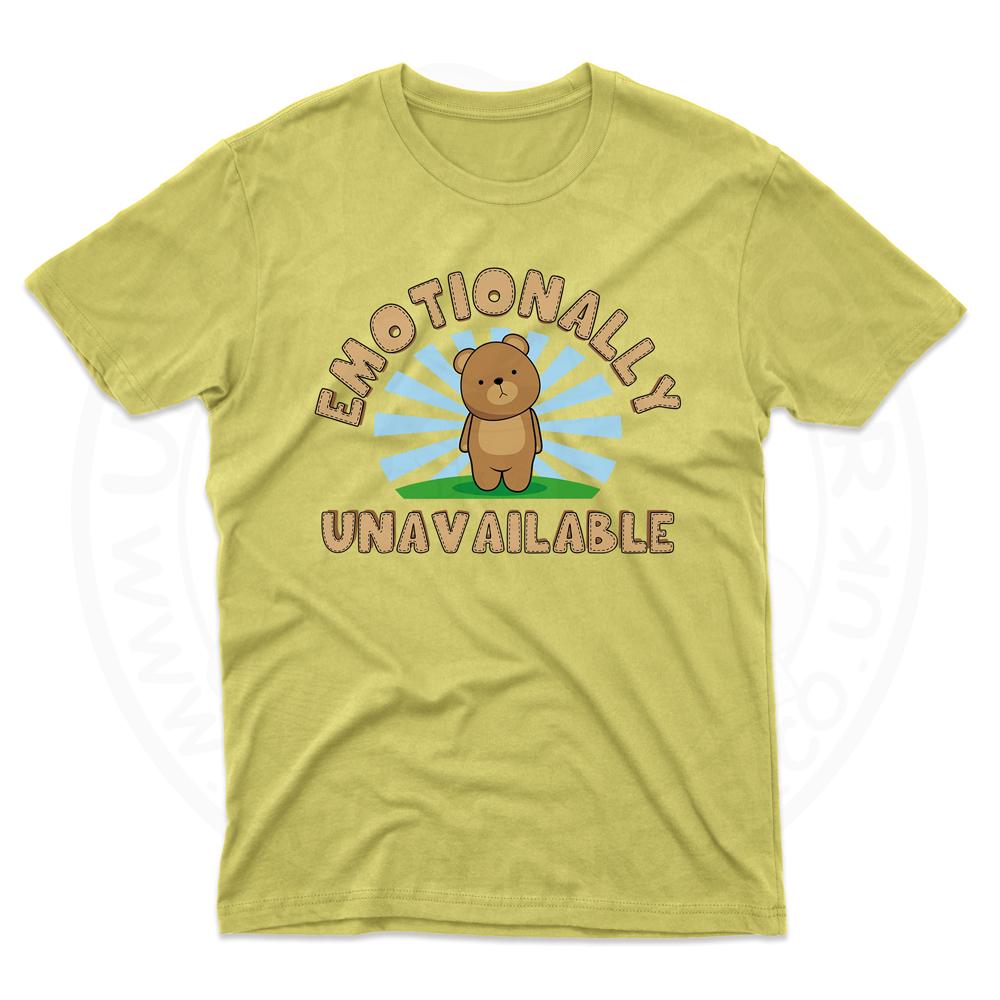 Mens Emotionally Unavailable T-Shirt - Daisy, 2XL