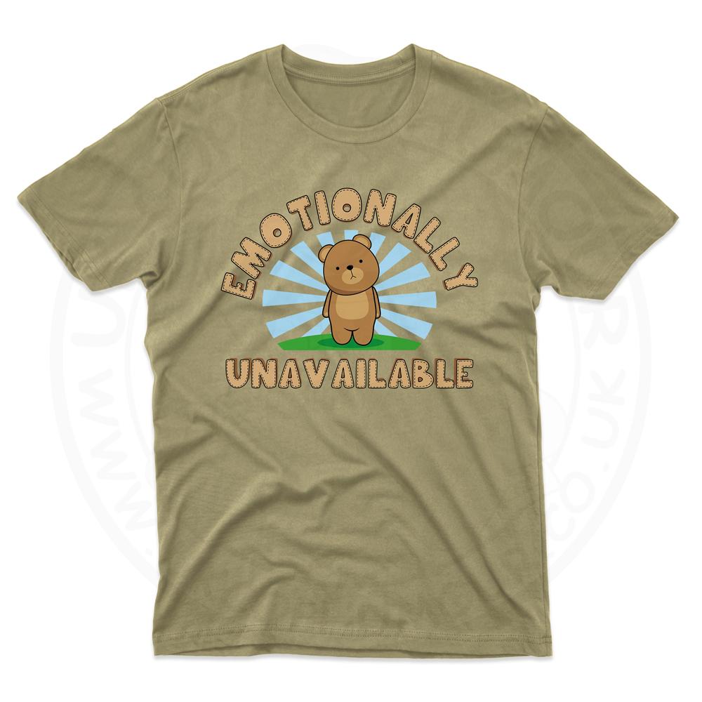 Mens Emotionally Unavailable T-Shirt - Desert, 2XL