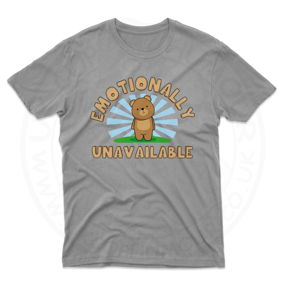 Mens Emotionally Unavailable T-Shirt - Grey, 5XL