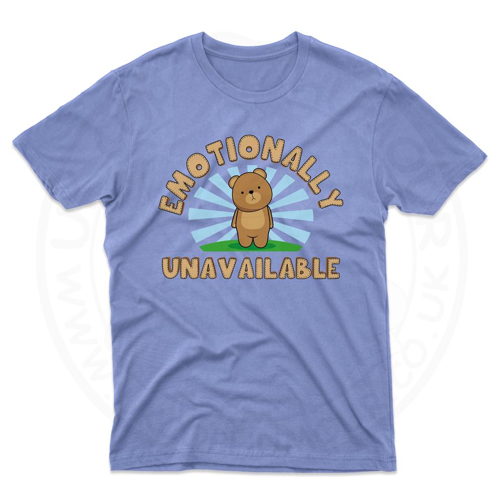 Mens Emotionally Unavailable T-Shirt - Light Blue, 2XL