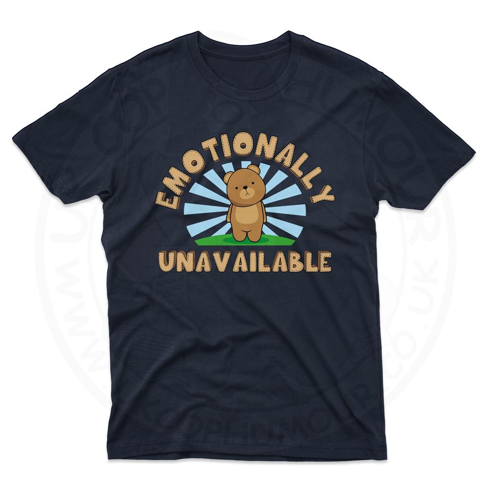 Mens Emotionally Unavailable T-Shirt - Navy, 5XL