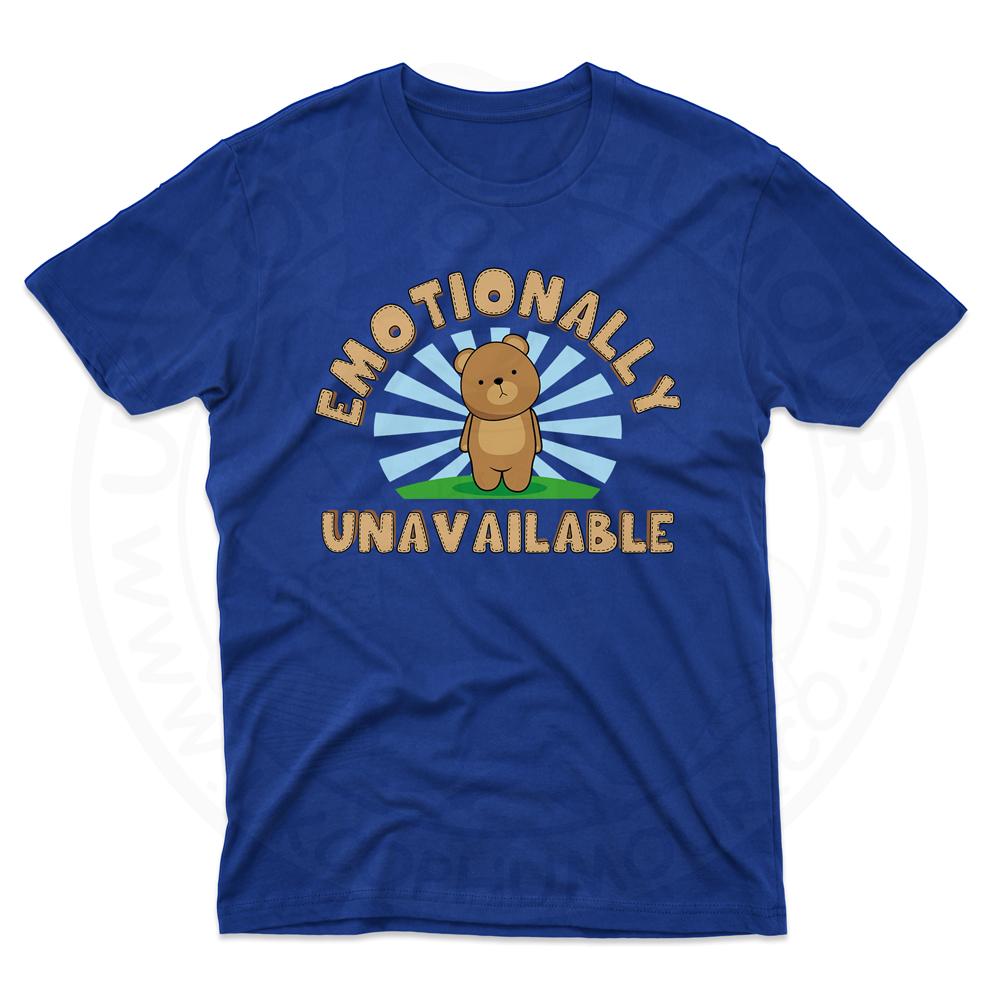 Mens Emotionally Unavailable T-Shirt - Royal Blue, 5XL