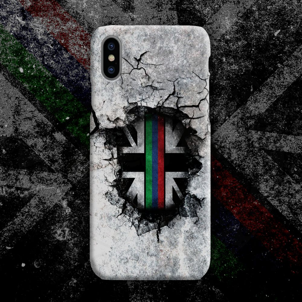 Broken Wall Tri-Line Mobile Phone Case