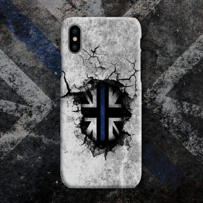 Broken Wall Blue Line Mobile Phone Case