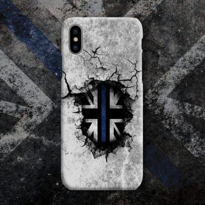 Broken Wall Blue Line Mobile Phone Case