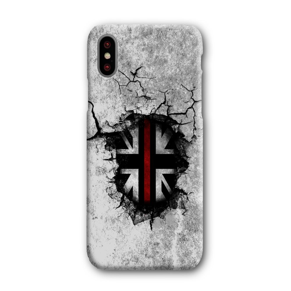Broken Wall Red Line Mobile Phone Case