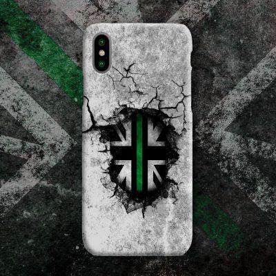 Broken Wall Green Line Mobile Phone Case