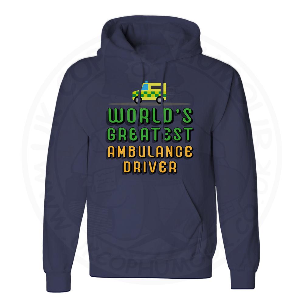 Unisex World Greatest Ambulance Driver Hoodie - Navy, 5XL
