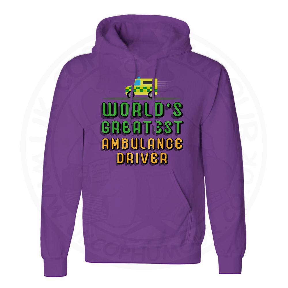 Unisex World Greatest Ambulance Driver Hoodie - Purple, 3XL