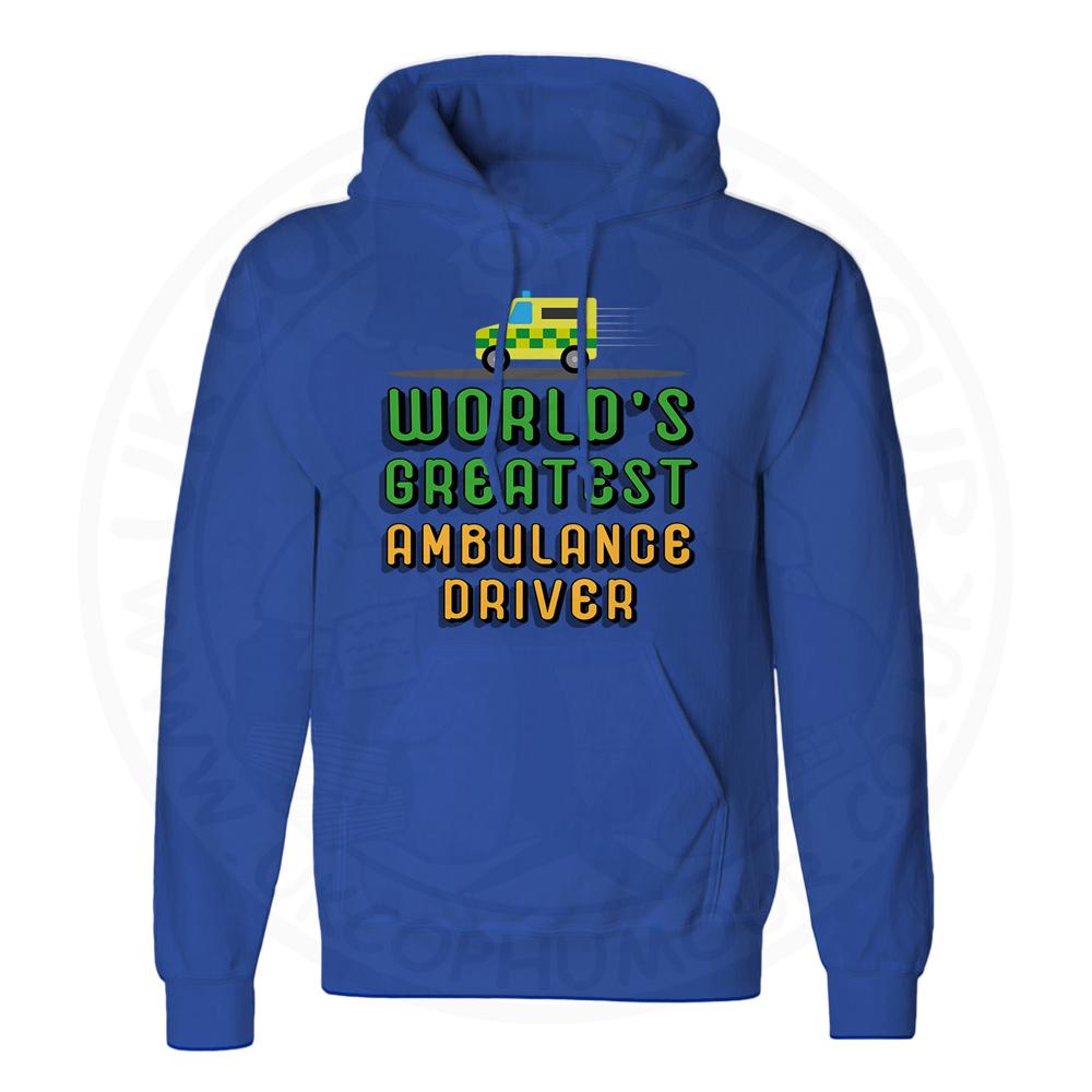 Unisex World Greatest Ambulance Driver Hoodie - Royal Blue, 3XL