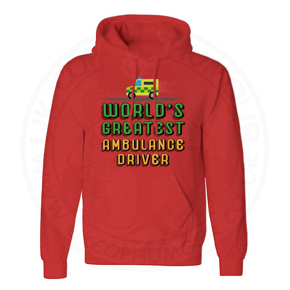 Unisex World Greatest Ambulance Driver Hoodie - Red, 3XL