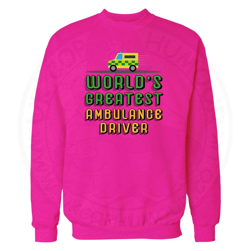 World Greatest Ambulance Driver Sweatshirt - Candy Floss Pink, 2XL