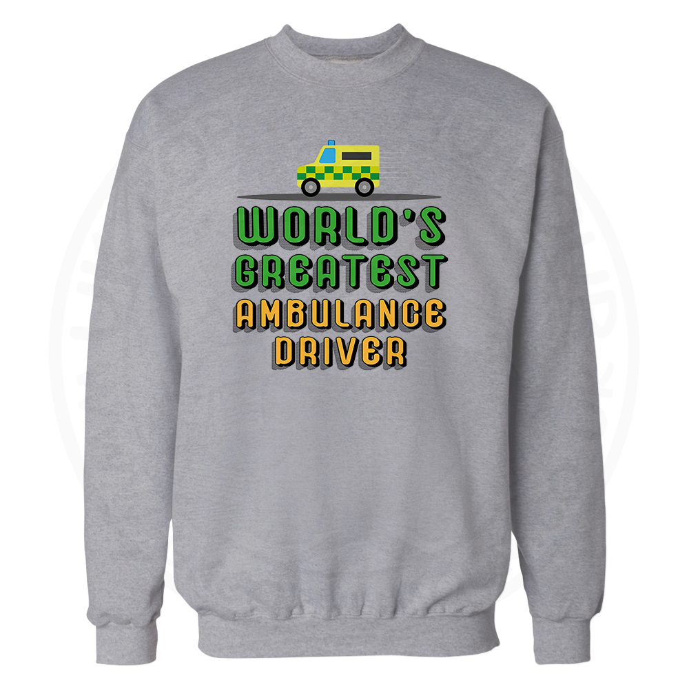 World Greatest Ambulance Driver Sweatshirt - Grey, 3XL