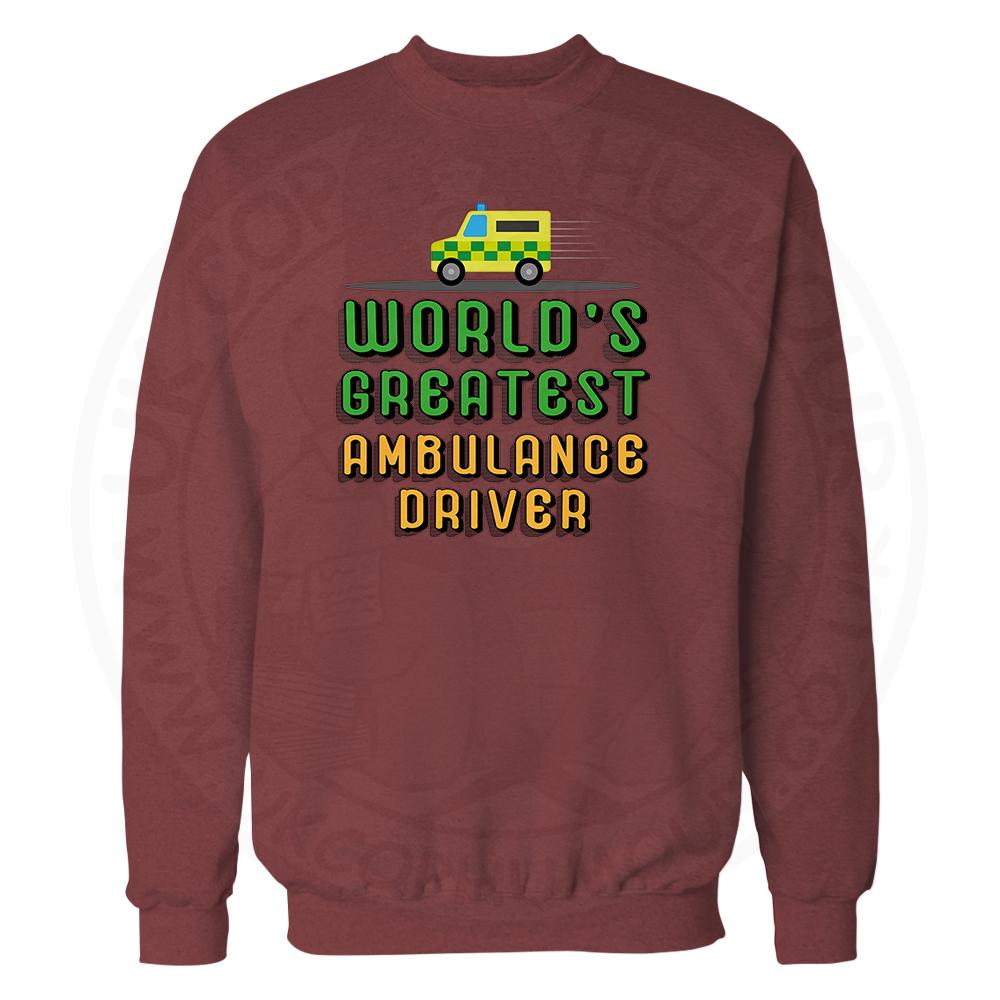 World Greatest Ambulance Driver Sweatshirt - Maroon, 2XL