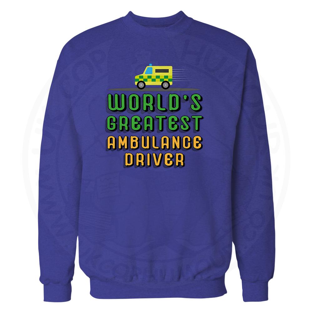 World Greatest Ambulance Driver Sweatshirt - Royal Blue, 2XL