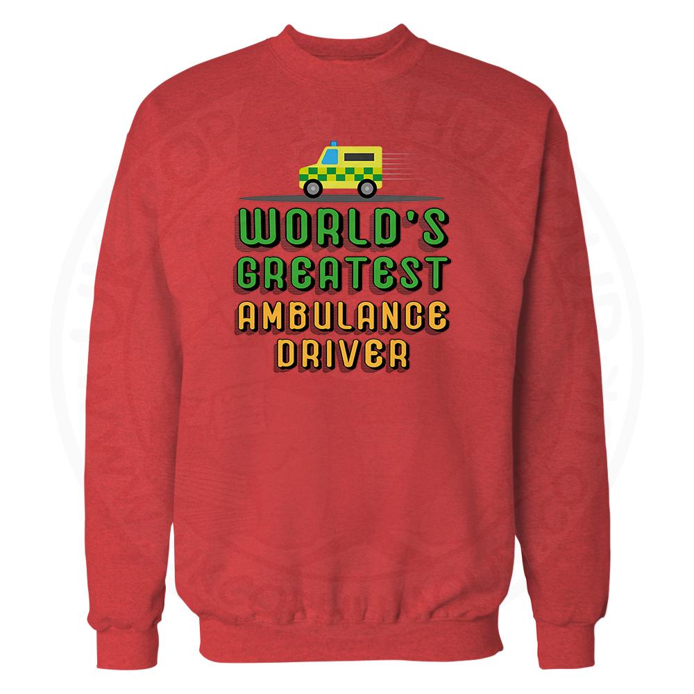 World Greatest Ambulance Driver Sweatshirt - Red, 2XL