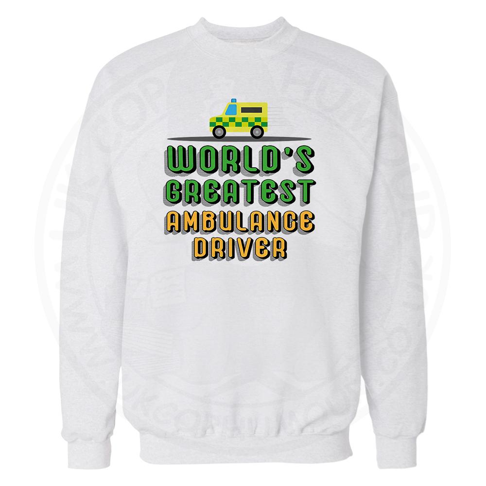 World Greatest Ambulance Driver Sweatshirt - White, 3XL