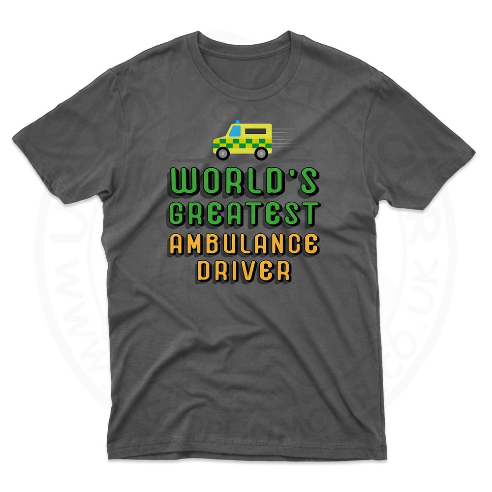 Mens World Greatest Ambulance Driver T-Shirt - Black, 5XL