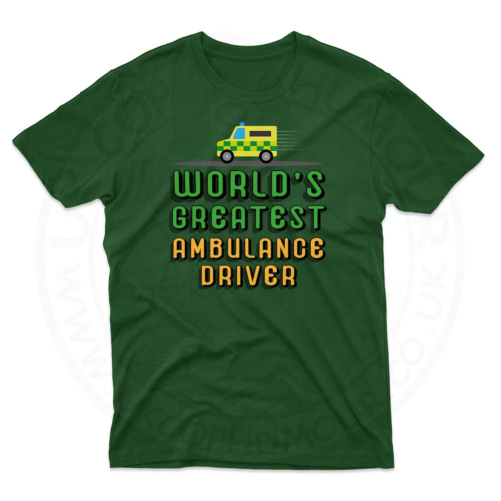 Mens World Greatest Ambulance Driver T-Shirt - Forest Green, 2XL