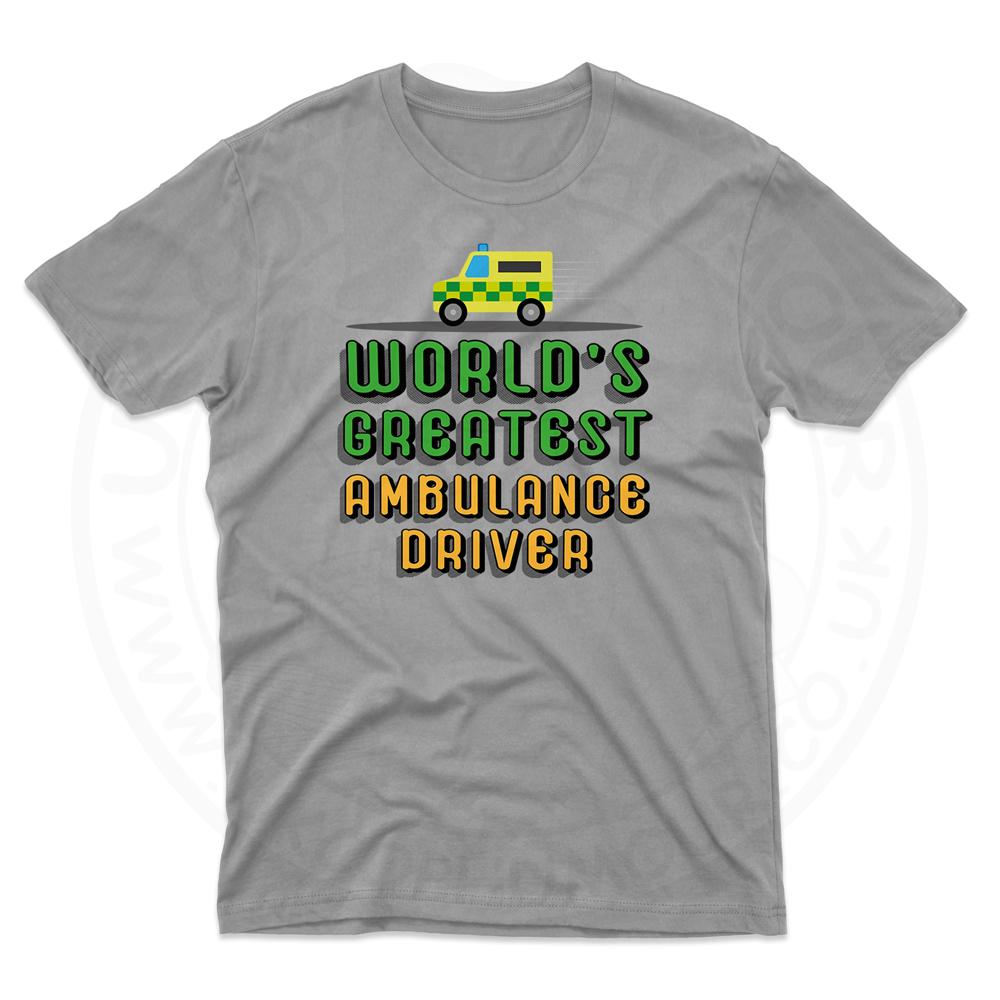 Mens World Greatest Ambulance Driver T-Shirt - Grey, 5XL