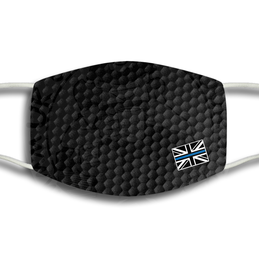 Thin Blue Line Flag Face Cover