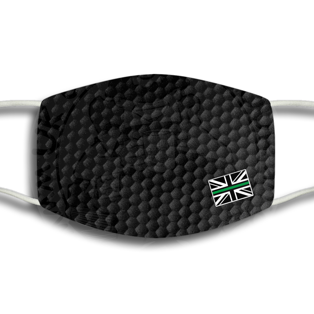 Thin Green Line Flag Face Cover