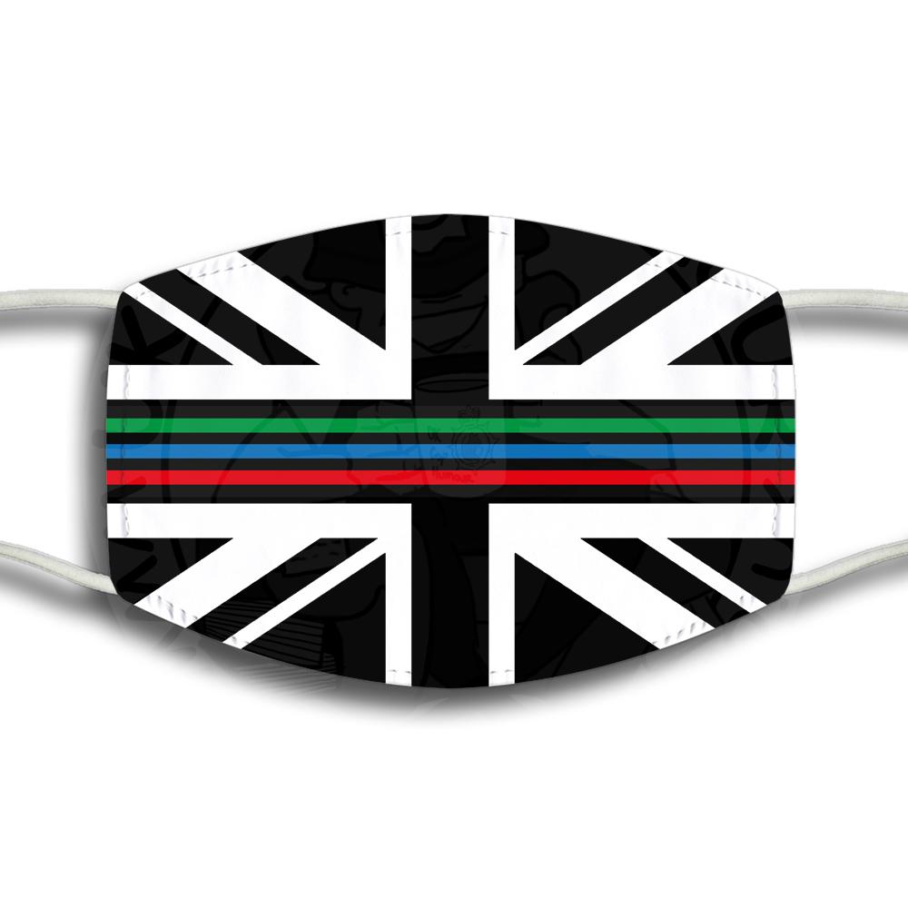 Tri Line Union Jack Face Cover