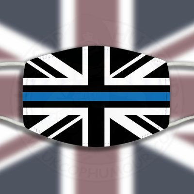 Thin Blue Line Union Jack Face Cover