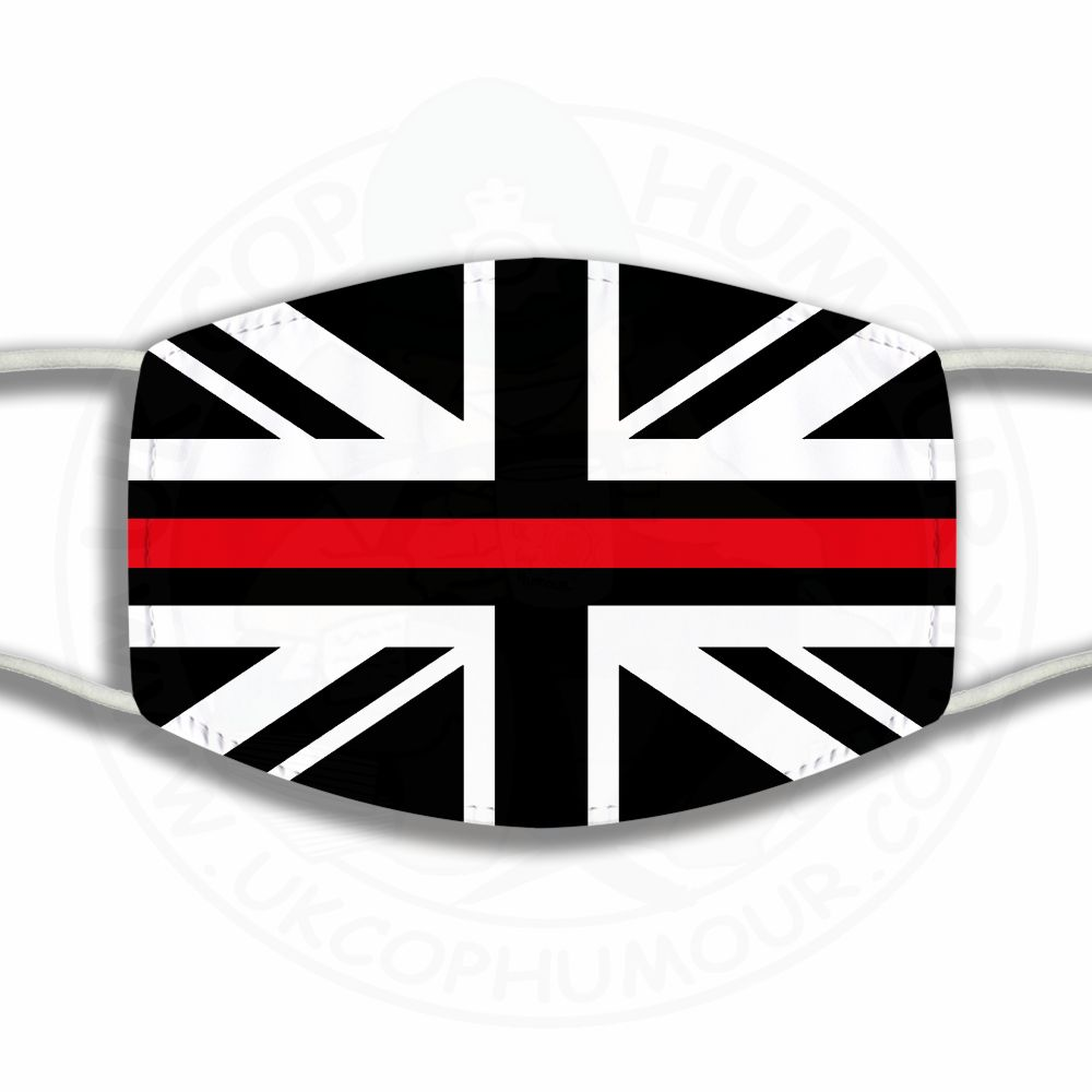 Thin Red Line Union Jack Face Cover