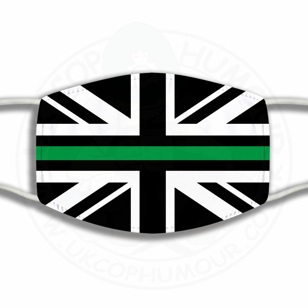 Thin Green Line Union Jack Face Cover