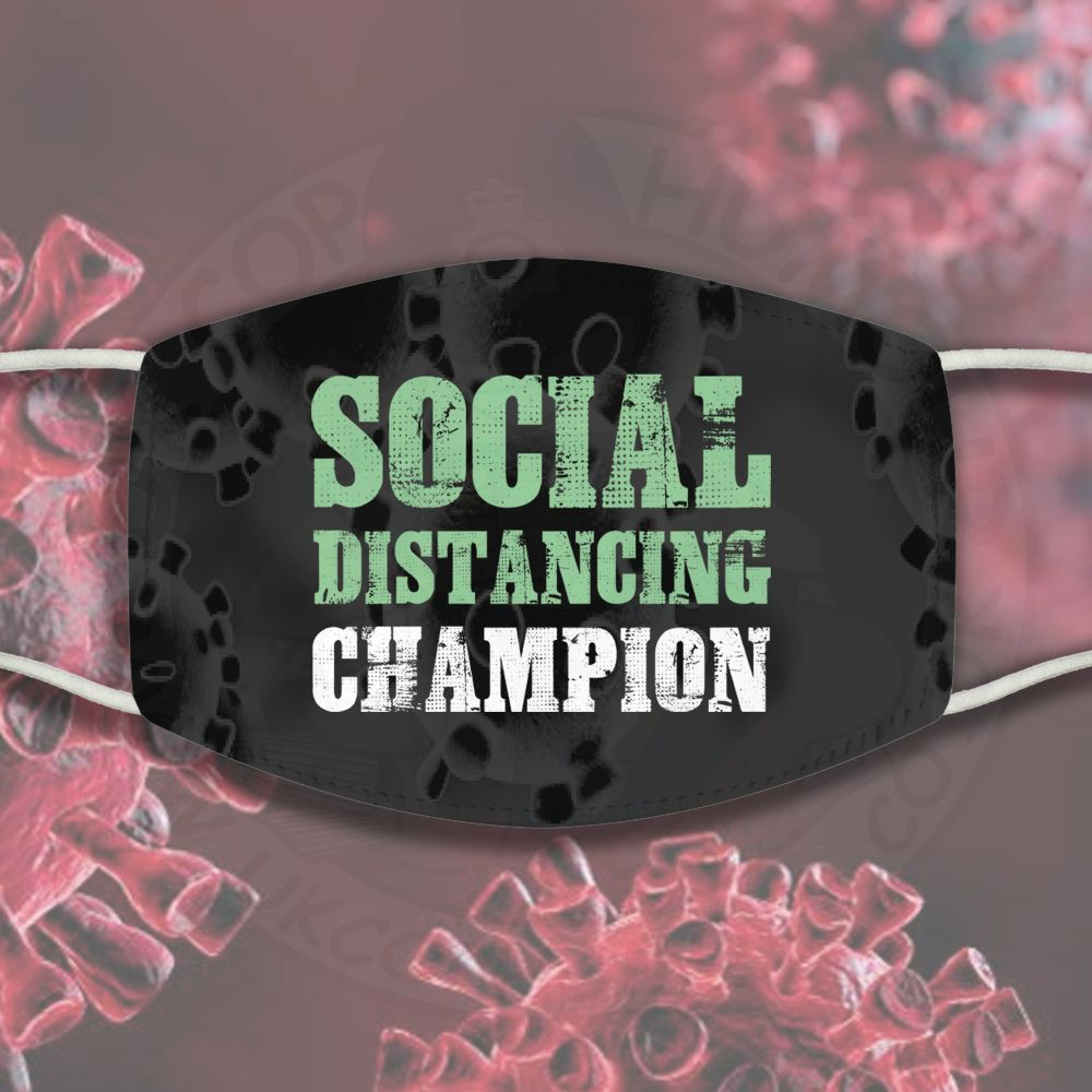 Social Distancing Champion Face Cover