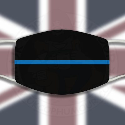 Thin Blue Line Face Cover
