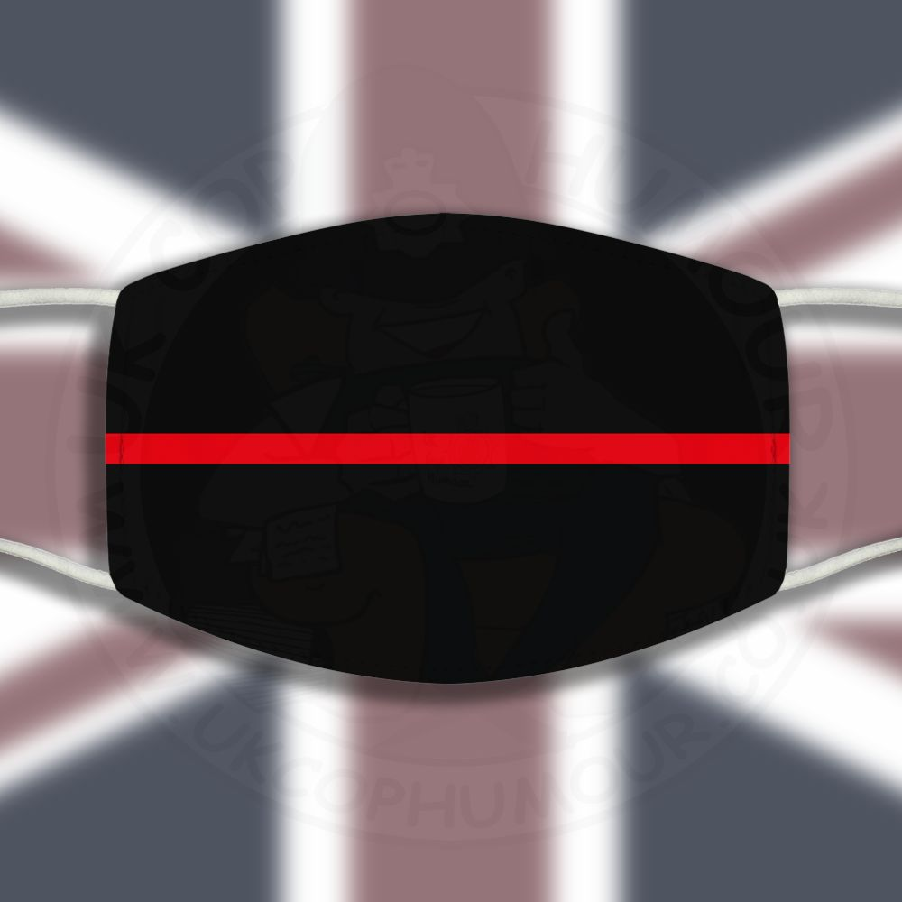Thin Red Line Face Cover