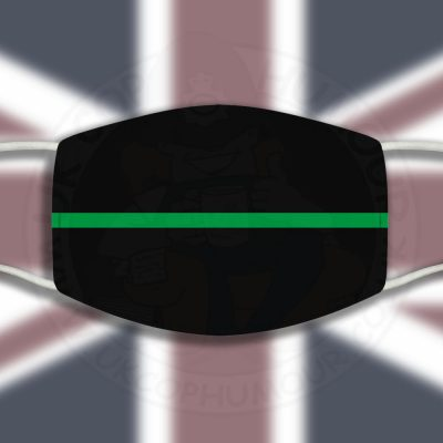 Thin Green Line Face Cover