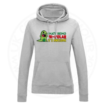 Ladies Bi-Polar Hoodie - Grey, 18
