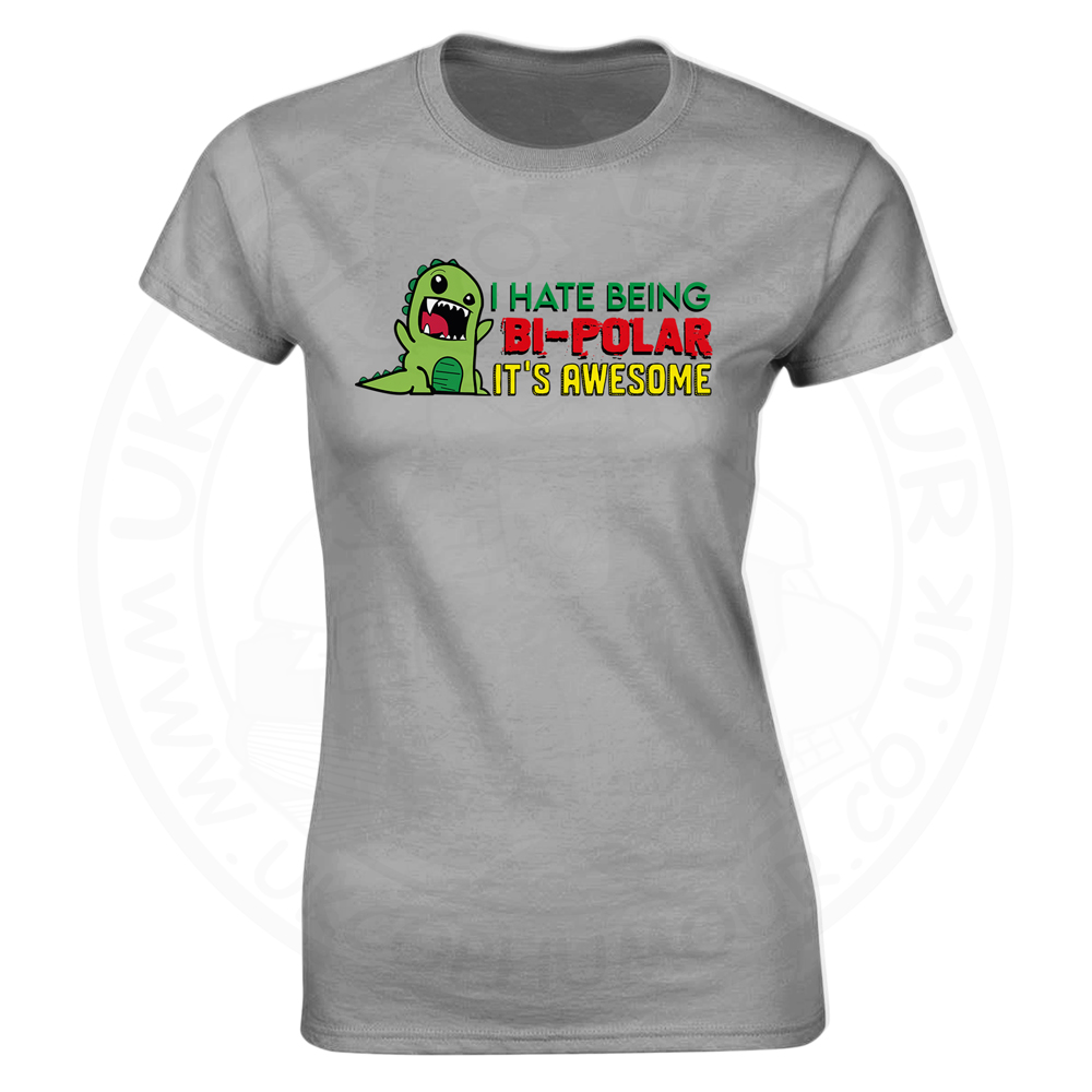 Ladies Bi-Polar T-Shirt - Heather Grey, 18