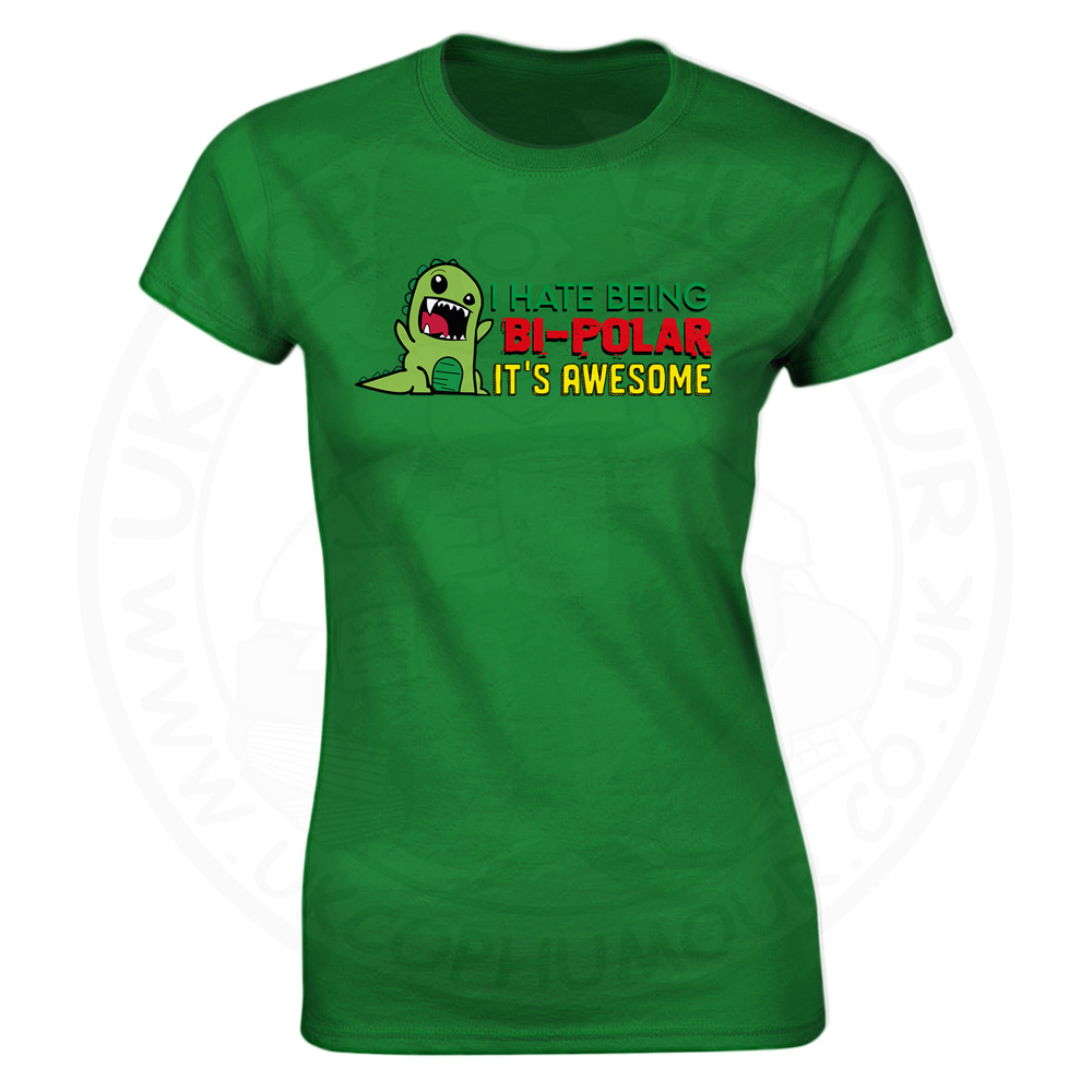 Ladies Bi-Polar T-Shirt - Kelly Green, 18