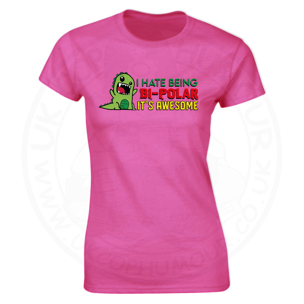 Ladies Bi-Polar T-Shirt - Pink, 18