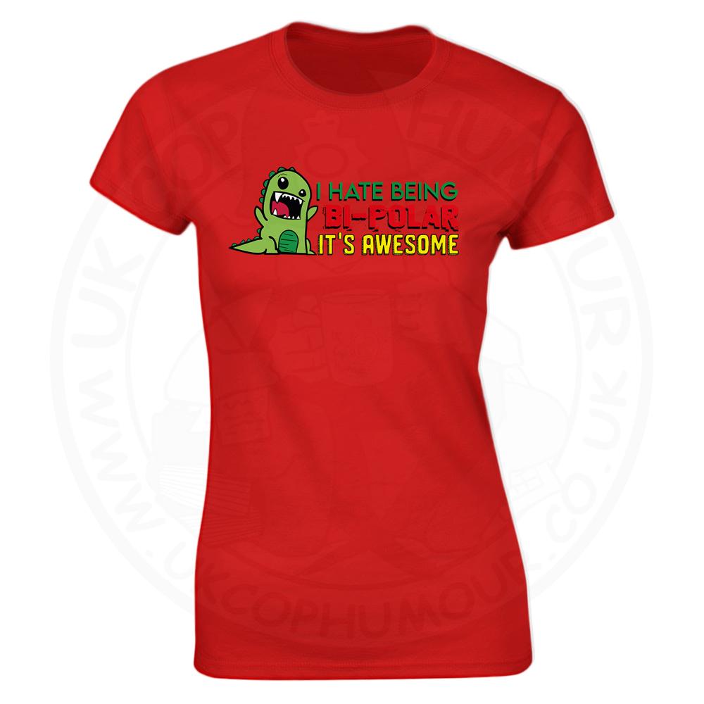 Ladies Bi-Polar T-Shirt - Red, 18