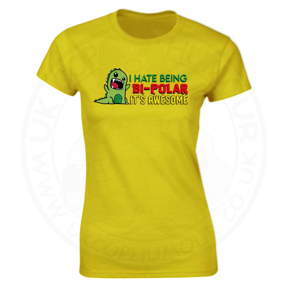 Ladies Bi-Polar T-Shirt - Yellow, 18