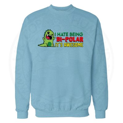 Bi-Polar Sweatshirt - Sky Blue, 2XL