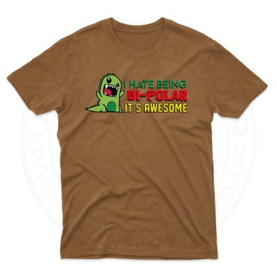 Mens Bi-Polar T-Shirt - Chestnut, 2XL
