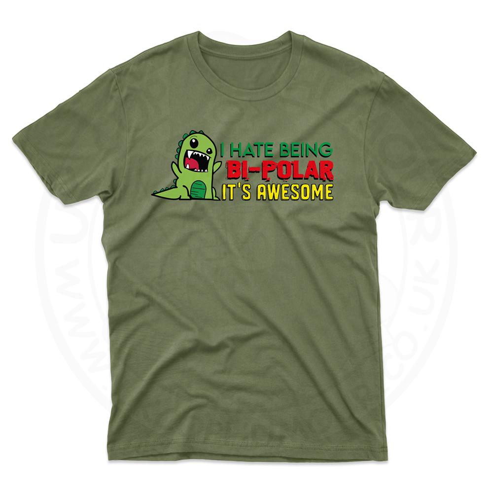 Mens Bi-Polar T-Shirt - Military Green, 2XL