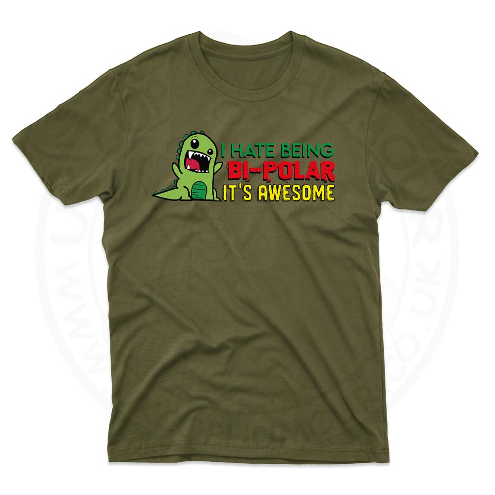 Mens Bi-Polar T-Shirt - Olive Green, 2XL