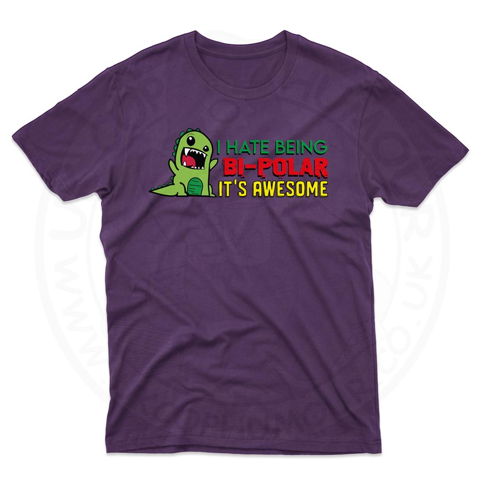 Mens Bi-Polar T-Shirt - Purple, 2XL