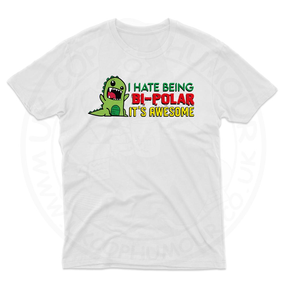Mens Bi-Polar T-Shirt - White, 5XL
