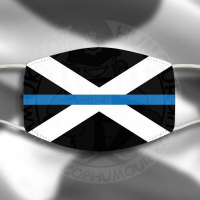 Scottish Blue Line Flag Face Cover
