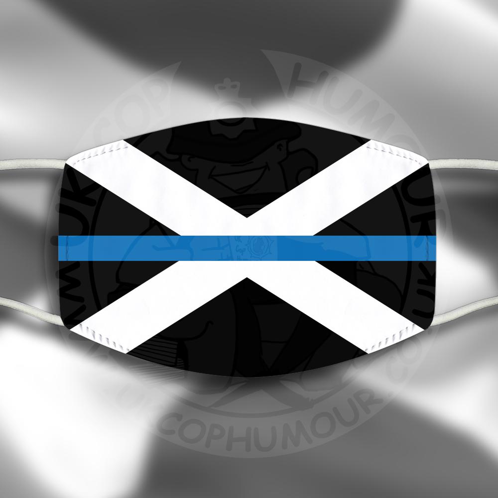 Scottish Blue Line Flag Face Cover