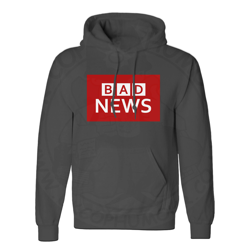 Unisex BAD NEWS Hoodie - Black, 5XL