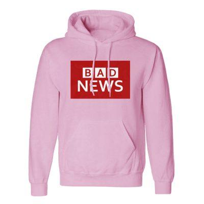 Unisex BAD NEWS Hoodie - Baby Pink, 2XL